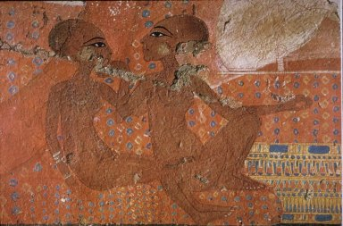 Daughters of Akhenaten Seated at Their Parents' Feet