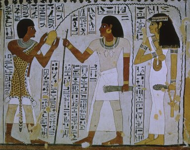 Ceremonial Purification Scene from the Tomb of Sennefer