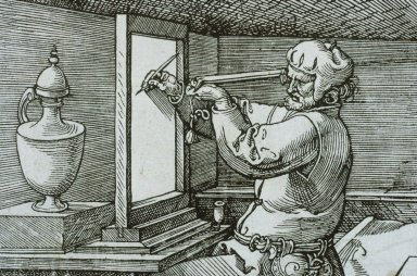 Man Drawing an Urn