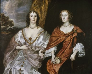 Portrait of Ladies-in-Waiting to Queen Henrietta Maria