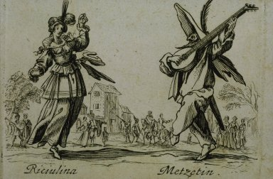 Riciulina and Metzetin, from the Balli di Sfessania