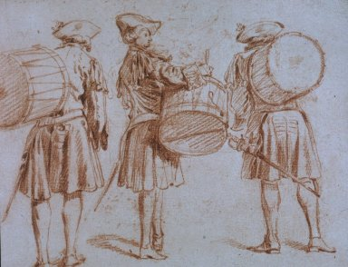 Three Views of a Military Drummer