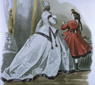Fashion Plate with Hoop Skirts