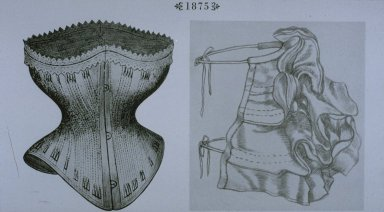 1875 Corset and Bustle Pad