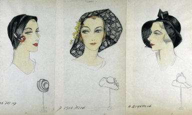 Hats for the Custom Millinery Department