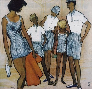 Illustration of Sportswear for the Family from Life Magazine