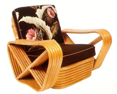 Art Deco Bamboo Armchair