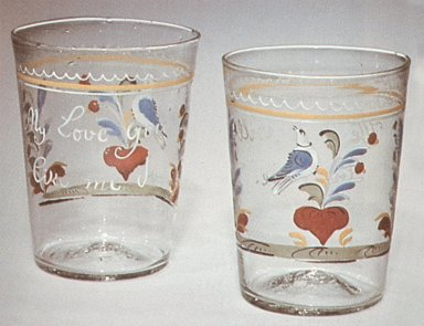 Blown and Enameled Tumblers