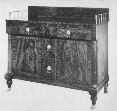 Flame-Grained Mahogany Sideboard