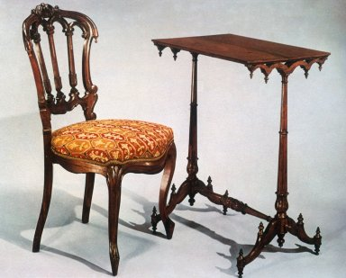 Rosewood Side Chair / Rosewood Stand