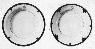Buffalo Pottery for Roycroft Plate with Orb Logo