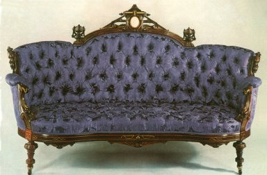 Rosewood Renaissance Revival Sofa