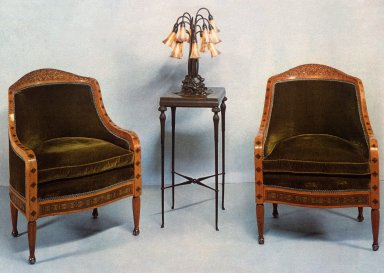 Tiffany Style Marquetry Chair