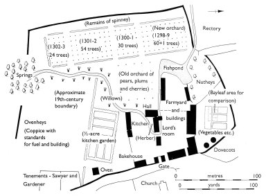 Hypothetical Plan of the Cuxham Manor Curia in the 14th Century