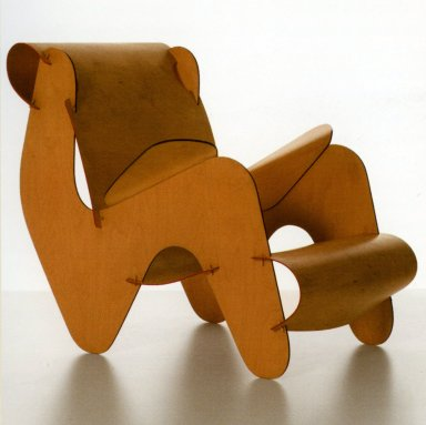 Curved Plywood Armchair