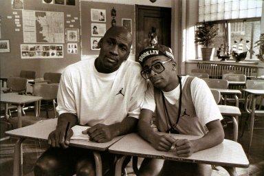Michael Jordan and Spike Lee (As Mars Blackmon)