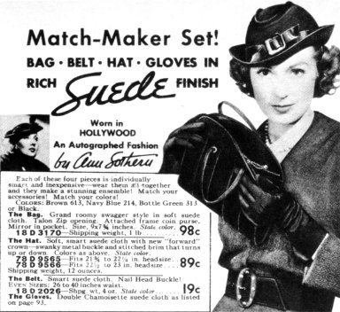 Bag, Belt, Hat, and Gloves Set