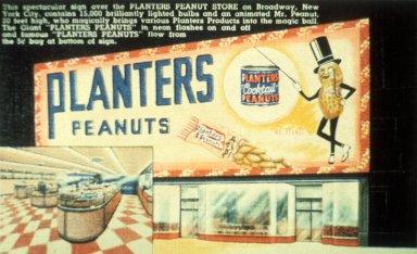 Postcard of the Planters Peanut Store