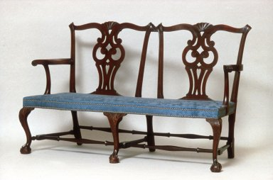 Chippendale Double Chair Back Settee