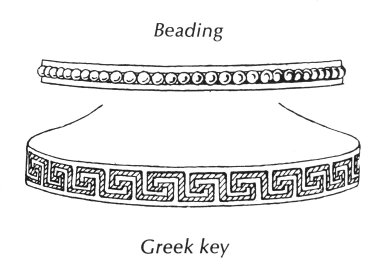 Beading and Greek Key Patterns