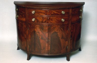 Semi-Circular Commode