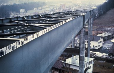 Construction- Composite Construction Elevated Highway