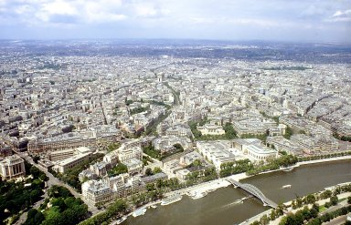 Paris from the Eiffel Tower: The Right Bank