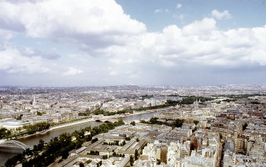 Paris from the Eiffel Tower: The Left Bank