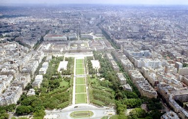 Paris from the Eiffel Tower: The Champ de Mars