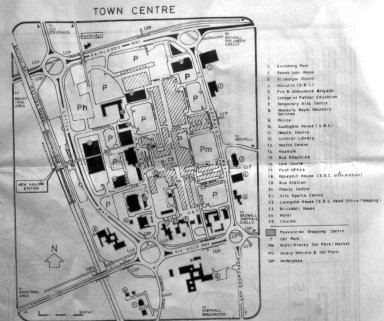 Map of Stevenage Town Centre