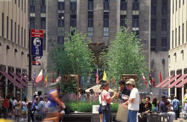 Rockefeller Center; Channel Gardens, Promenade and Plaza