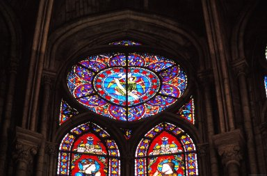 Notre Dame de Paris: Stained Glass