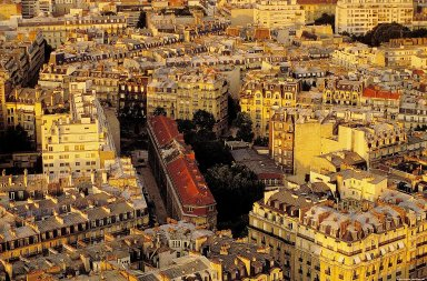 Paris: Aerial Topographic Views