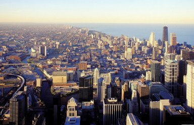 Chicago: Aerial Topographic Views from Sears Tower
