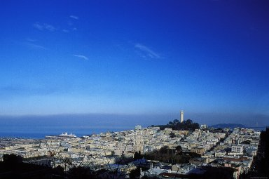 Coit Tower and Telegraph Hill; Topographic Views