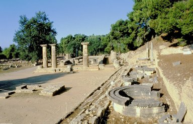 Olympia: Exedra of Herod Atticus