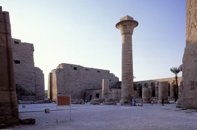 Temple of Amun-Re; First Pylon, Great Court and Great Hypostyle Hall