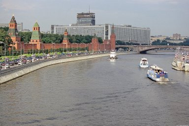 Moscow, Moskva River: Topographic Views