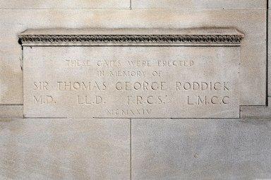 Roddick Memorial Gates