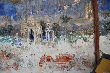 Phnom Penh; Silver Pagoda Complex, Reamker Murals