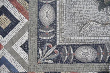 Parrot Mosaic from Pergamon [museum reconstruction]