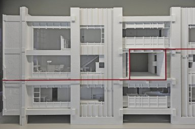 Cutaway models of Unit¿ d'Habitation, Marseilles