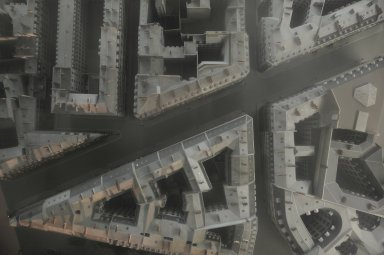 Scale model of Haussmann's renovated area of the Op¿ra