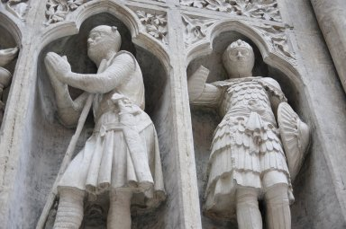"Plaster Cast of the ""Knight's Communion"" from Reims Cathedral"