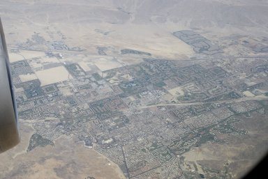 Palm Springs: Topographic Aerial Views [from airplane]