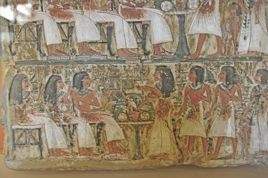 Painted stele of the 'Artisan of the Royal Tombs', Irynefer and his family