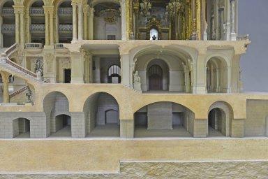 Model of the Paris Opera House, longitudinal section