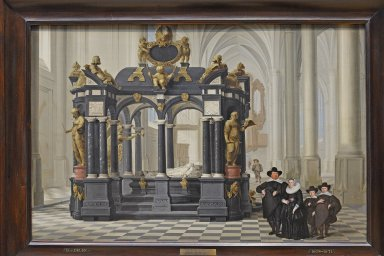 Family beside the Tomb of Prince William I in the Nieuwe Kerk, Delft