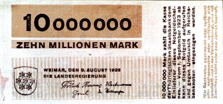 German Currency: Zehn Million Mark