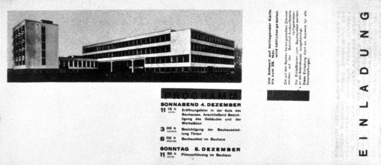 Dessau Bauhaus Opening Invitation